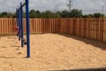 Commercial Wood Fence - Church Playground